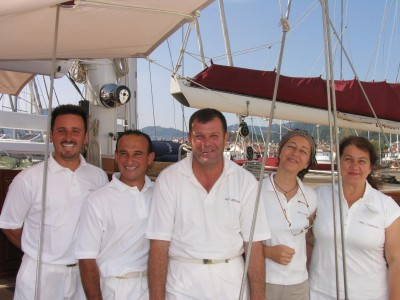 Captain Nurkan and Crew of CLARISSA