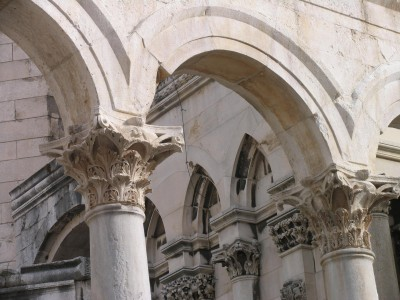 CROATIA - UNESCO protected DIOCLETIAN PALACE in Split's old town