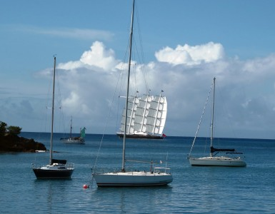 MALTESE FALCON under sail Antigua Caribbean