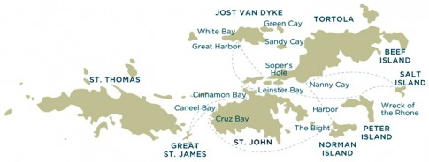 VIRGIN ISLANDS MAP - Interpac Yacht Charters | Interpac Yacht Charters